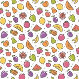 Stylized background of fruit. Vector icons Stock Photography