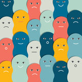 Color stylized people pattern, background. Stock Photography