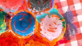 Color sucio Art Paint On Fabric imagen de archivo libre de regalías