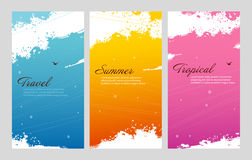 Color summer set with splash Royalty Free Stock Photos