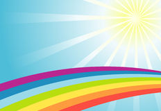 Color sun rainbow background Royalty Free Stock Image