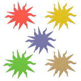 Color sun recycled paper. Royalty Free Stock Image