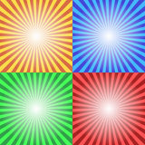 Color Sun Sunburst Background Stock Photo