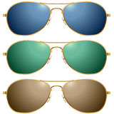 Color sunglasses set Royalty Free Stock Photography