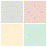Color sunrise pattern set Royalty Free Stock Photo