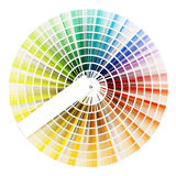 Color swatch book. Color swatch wheel isolated on whote royalty free stock photography