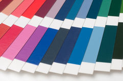 Color swatch, catalog. Colored palette of paint Stock Photography