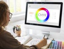 Color Swatch CMYK Design Spectrum Sample Concept Stock Photo