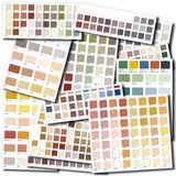 Color swatch collage Stock Photo