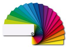 Presentation of a full range of colors on a color chart vector illustration