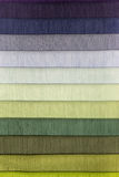 Color swatch of fabric textiles Royalty Free Stock Photography