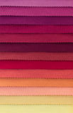 Color swatch of fabric textiles Stock Photos