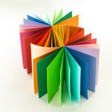 Color swatch fan Royalty Free Stock Photo