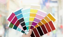 Color swatch. Color image choice ral cmyk chart multi colored stock image