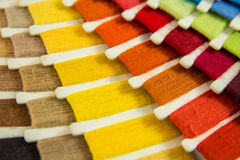 Color swatch. For spinning work royalty free stock photo