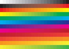 Color swatch - vector. Color swatch background also vector Stock Images