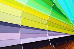 Color swatches book,. Close up Stock Image