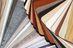 Color swatches. The color swatches chipboard, worktops and fronts Stock Photos