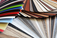 Color swatches. The color swatches chipboard, worktops and fronts Royalty Free Stock Images