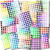 Color swatches collage Stock Photo