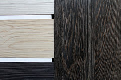 Color swatches of countertops. And particle Board Royalty Free Stock Photography