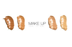 Color Swatches Foundation Makeup Stock Photography