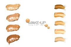 Color Swatches Foundation Makeup Royalty Free Stock Image