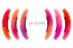 Color Swatches of Lip Gloss Stock Photo