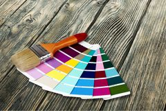 Color Swatches. Paint Paintbrush Color Image House Home Improvement Red Stock Photography