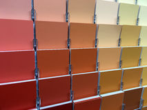 Color Swatches. And painting colors selection options Stock Image