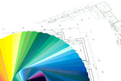 Color swatches and plans Stock Images
