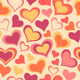 Color sweet All Lovers Day Valentine pattern. Seamless vector background Royalty Free Stock Photo