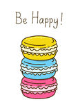 Color sweet macarons Royalty Free Stock Photos