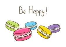 Color sweet macarons Stock Photos