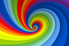 Color swirl Royalty Free Stock Image