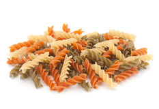 Color swirl dry pasta Royalty Free Stock Images