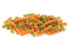 Color swirl dry pasta Stock Photo