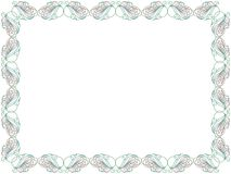 Color swirl floral frame. Swirl color floral frame with thin ornamental lines as a greeting card isolated on the white background, vector illustration Royalty Free Stock Photo