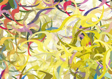 Color swirls vector. Colorful swirls background also vector vector illustration
