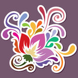 Color swirly decoration Stock Image