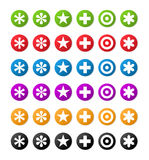 Color symbols. Color buttons with symbols, illustration Royalty Free Stock Photo