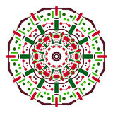 Color symmetrical mandala. From simple geometric shapes royalty free illustration