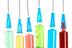 Color syringes Stock Photo