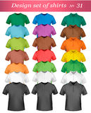 Color t-shirt design template. Stock Photography