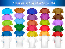 Color t-shirt design template. Royalty Free Stock Photos