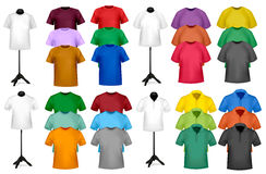 Color t-shirt design template Royalty Free Stock Photography