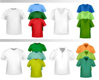 Color t-shirt design template. Vector Stock Photos
