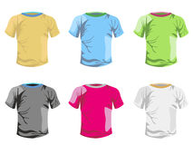 Color T-shirt vector template Royalty Free Stock Photos