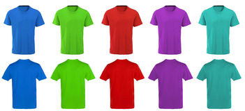 Color t-shirts design Stock Photography