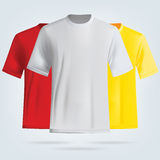 Color T-shirts template. Royalty Free Stock Photos